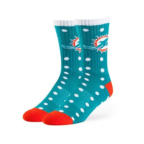 OTS NFL Miami Dolphins Lucelle Sport Socks, Neptune, Medium