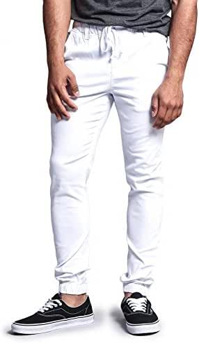 G-Style USA Mens Twill Skinny Jogger Pants