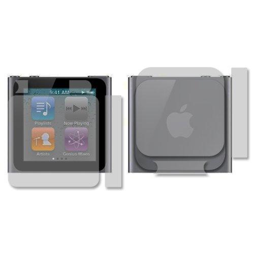 (iPod Nano 6 Screen Protector + Full Body (6th Gen), Skinomi TechSkin Full Coverage Skin + Screen Protector for iPod Nano 6 Front & Back Clear HD Film)