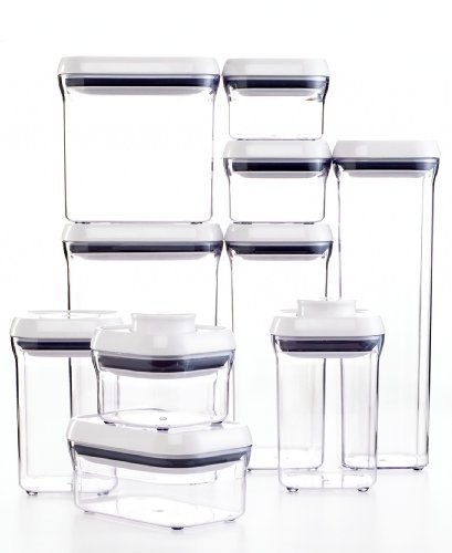 (OXO Good Grips 20-Piece POP Container Set, White)