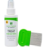 Lice Clinics of America Comb-Out Kit – Remove Lice & Eggs with Comb-Out Spray & Nit Comb