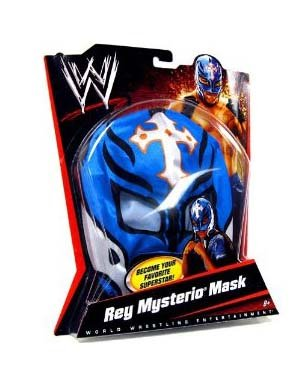 Rey Mysterio Blue Costume (WWE Wrestling Rey Mysterio Mask - Blue, White Cross & Black Trim)