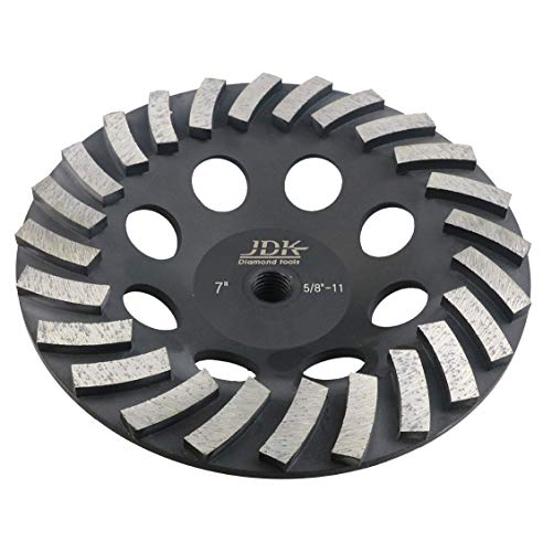 7 Inch Diamond Grinding Wheel for Concrete and Masonry 24 Segments with 5/8''-11 Arbor