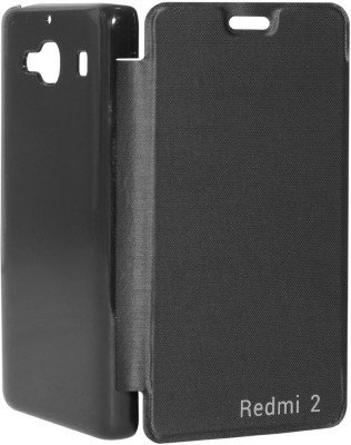 cheap for discount 6ef5a b4d96 CurioCity Flip Cover Case for Xiaomi Redmi 2 (Black)