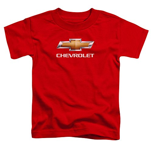 Chevrolet Toddlers Chevy Bowtie Stacked T-Shirt, 2T, Red