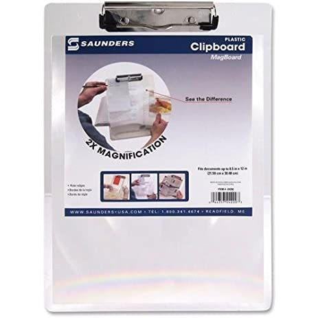 SAU24200   Saunders Full Page Magnifier Clipboard
