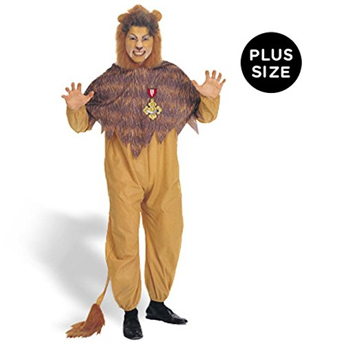 [Rubies Costumes Mens The Wizard Of Oz - Cowardly Lion Adult Costume Plus Yellow] (Lion Wizard Of Oz Costumes)