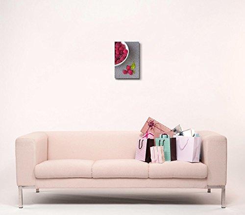 Closeup of Raspberries in a White Bowl Fresh Fruits Photograph Wall Decor