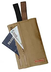 Rick steves luggage civita hidden pocket wallet khaki one size for Travel gear hidden pocket