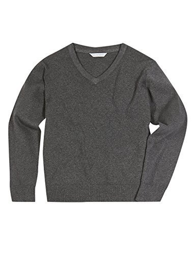 differently pretty and colorful largest selection of EX M&S New Boys Girls Cotton Rich V Neck School Jumper Navy Black Grey Blue
