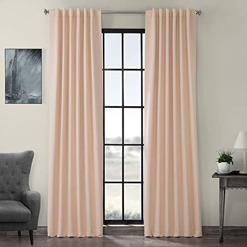HPD HALF PRICE DRAPES BOCH-141314-84 Blackout Room Darkening Curtain 50 X 84,Bellini Peach