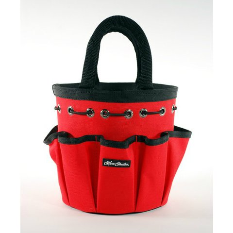 Silver Brush 9503 Nylon Petite Tote with Handle, Round, Red by Silver Brush Limited