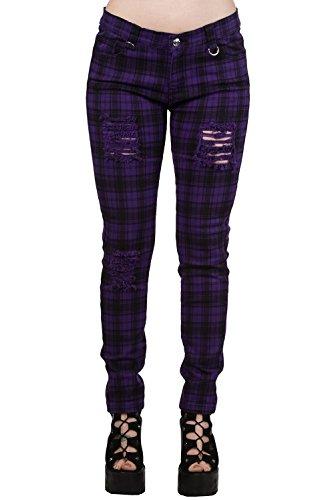 de Pantalón pitillo Banned tipo jeans Lila Negro de trwqIrH8