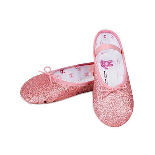 Bloch Kids Girl's Glitter Dust Ballet Slipper (Toddler/Little Kid) Rose Flat 11 Little Kid M