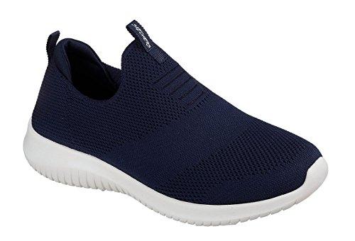 Skechers Sport Women's Ultra Flex-First Take Sneaker,Navy,8 M US