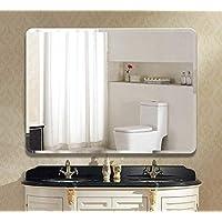 Seven Horses Frameless Wall Mounted Rounded Corner 5mm Rectangular Bevelled Bathroom Mirror(Size : 18X24 Inch)
