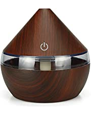 Mainstayae DC5V 2W 300ml USB Cool Mist Air Humidifier Essential Oil Diffuser 7 Color Changing Light for Office Home Bedroom Living Room Study Yoga Spa