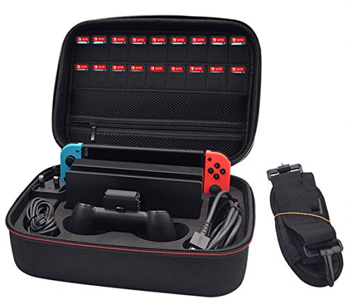 Switch Storage Travel Case for Switch Console Pro Controller &Accessories Black