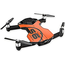 WINGSLAND S6 Pocket 4K Camera Selfie Drone with 3 Batteries,Extra Powerful For Extended Shooting Time