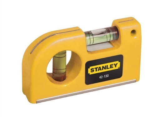 Stanley Taschen-Wasserwaage, magnetisch, horizontale / vertikale Libellen, Kunststoffgehäuse, 0-42-130