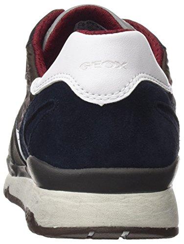 Sandford A Hombre Geox Ebony Marrón para Charcoal Zapatillas ABX B U CwOUUqSR5
