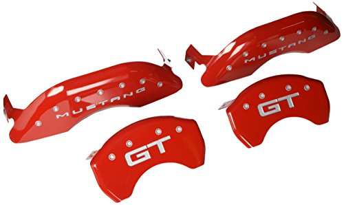 MGP Caliper Covers 10200S2MGRD Red Powder Coat Finish Engraved Front Mustang Rear GT Caliper Cover, (Set of (Mustang Gt Upgrades)