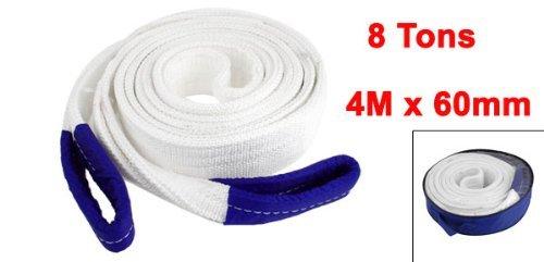 4M x 60mm Nylon Sicherheit doppelte Schichten Abschleppseil Wei/ß 8 Tonnen