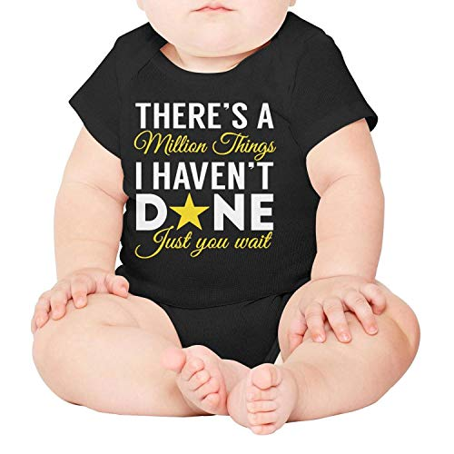 Newborn Baby Black There's-a-Million-Things-Hamilton- Cotton Clothing Short - Clothing Frogman