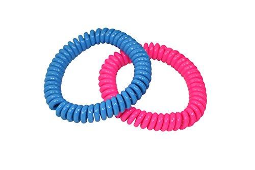 chubuddy Chewable Bracelets Springz, Set of 2 Neon Solid Colors, Fidget Bracelets (Buddy Bracelet Set)