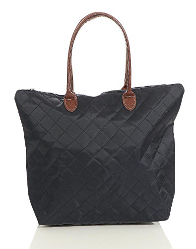 Borsa malito Donna Colori Manico Moda tracolla Shopper T200 Blu Zainetto Borsetta scuro Trapuntata nAXTrA4