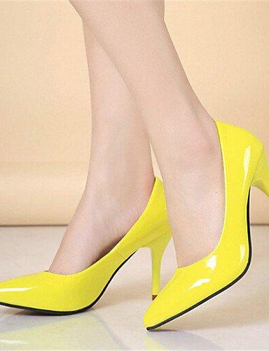GGX/Damen Schuhe Kunstleder Stiletto Heel Heels Heels Party & Evening Schwarz/Blau/Gelb/Violett/Rot/Beige black-us6.5-7 / eu37 / uk4.5-5 / cn37