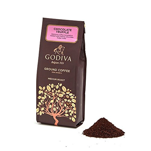 Godiva Chocolatier Ground Coffee, Chocolate Truffle, Stocking Stuffer, Coffee Beans, Flavored Coffee, Godiva Coffee, 10 Ounce