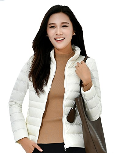 Women Coat Zinsale Packable Short Jacket White Weight Light Down Puffer 8wdwTq