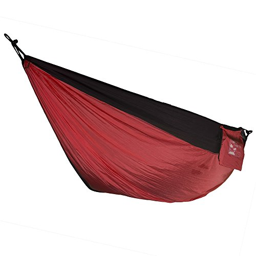 Ten After Twelve Two Person Hammock, Heavy Duty Double Wide Nylon Camping Hammock, 400 Pound Capacity