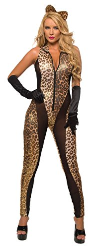 Sex Kitten Bodysuit Queen of The Jungle Catsuit Costume (Small, Leopard) for $<!--$32.99-->