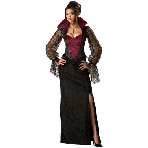 InCharacter Costumes, LLC Women's Midnight Vampiress Costume, Red/Black, ()