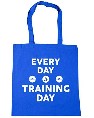 HippoWarehouse cada día es formación día bolsa de la compra bolsa de playa 42cm x38cm, 10litros Azul Aciano