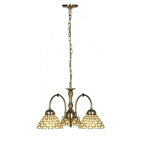 searchlight tiffany style raindrop 3 light ceiling pendant light