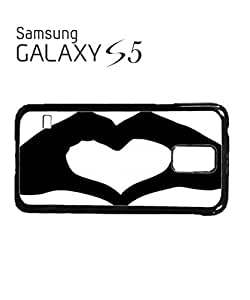 Heart Shaped Hand Mobile Cell Phone Case Samsung Galaxy S5 White