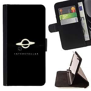 For Samsung Galaxy S5 Mini (Not S5), SM-G800 Case , Sistema Saturno Anillos Negro Blanco Planet Solar- la tarjeta de Crédito Slots PU Funda de cuero Monedero caso cubierta de piel