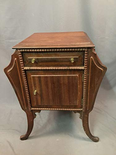$199.99 antique humidor PHOENIX FINDS TREASURES Wood Cigar Stand Humidor Antique Magazine Cigarette Station with Drawer Made USA 2019