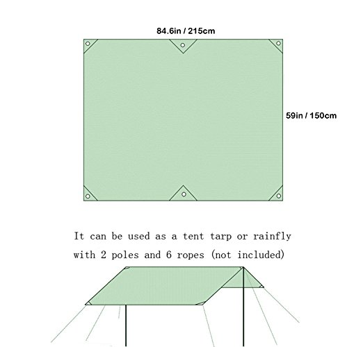 Naturehike 2 3 4 Person Outdoor Thickened Oxford Fabric Camping Tarpaulin Shelter Tent Tarp Canopy Cover Footprint Groundsheet Blanket Mat for Fishing Beach Hiking Backpacking