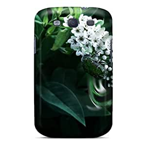 Top Quality Case Cover For Galaxy S3 Case With Nice Nature Plants Beetle On A Plant Appearance