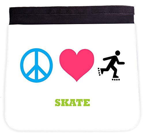 Rikki Knight Peace Love Skate Additional FLAP for Premium UKBK BackPack - FLAP ONLY (BackPack not included)