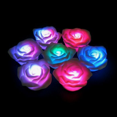 Floating Led Lighted Rose