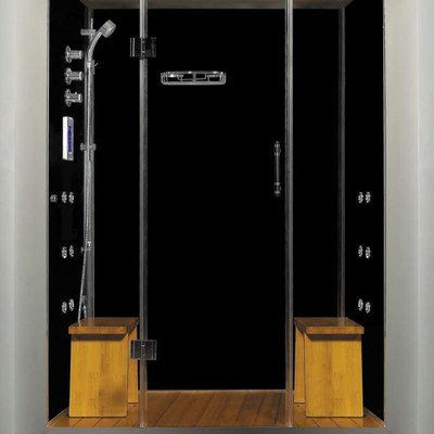 Royal Care Pivot Door Steam Sauna Shower Base Finish: No Bas