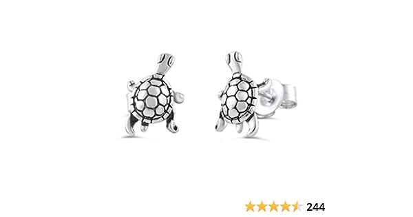sterling silver turtle studs strength patience wisdom persistence tortoise earrings Turtle earrings spirit animal Britta