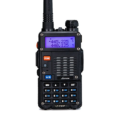 High Power Walkie Talkies 8-Watt Dual Band Two-Way Radio F9HP (136-174MHz VHF & 400-520MHz UHF) Includes Full Kit with Large Battery