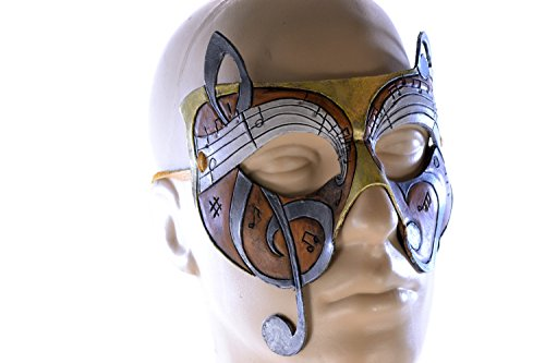 Music Themed Handmade Genuine Leather Mask for Masquerades Cosplay or Halloween Costume - The (Halloween Music Theme)