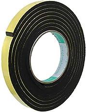 Schuimband SENRISE EVA-schuimband enkelzijdige schuimstrips lijm waterdicht voor deur- en raamisolatie, hoge dichtheid schuimafdichtingstape 12 mm (B) x 3 mm (T) x 5 m (L)